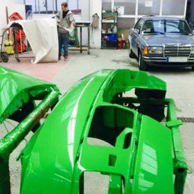 Reparaturlackierung in der Autolackiererei Wirtz in Hamm.