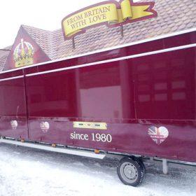 Neu lackierter Bonbonwagen in der Autolackiererei Wirtz in Hamm.