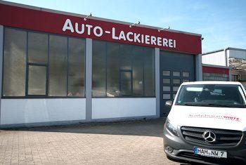Gebäude der Autolackiererei Wirtz in Hamm.