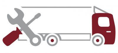 Ein Icon für den Bereich LKW-Montage/Demontage der Autolackiererei Wirtz in Hamm.