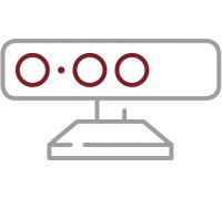 Ein Icon für den Sensor in den Lackierboxen der Autolackiererei Wirtz in Hamm.